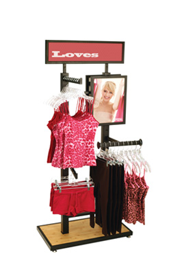 4 Way Post Apparel Display