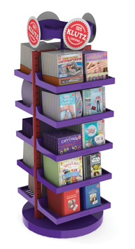Spinning Floor Shelf Display Plastic Klutz