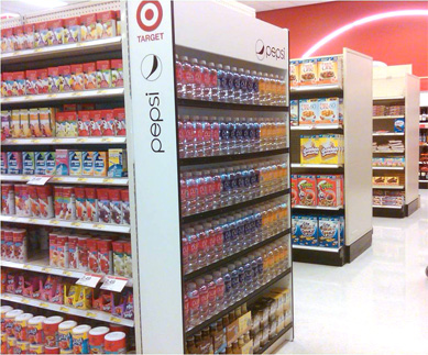 PEPSI - TARGET - END CAP SODA DISPLAY