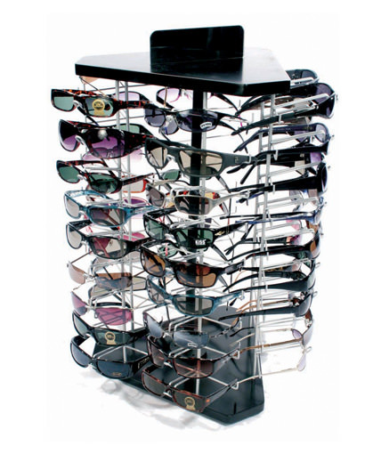table top counter spinning sunglass display
