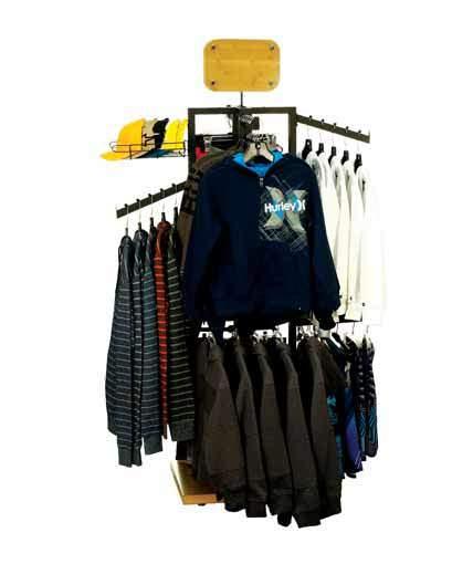 4-Way Store Fixture Apparel Retail Display