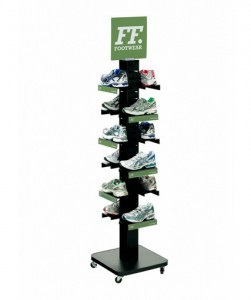 Free Standing Shoe Shelf Display - MPP-HD