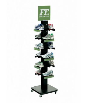 4x4 Post Footwear Retail Display By RIch LTD.