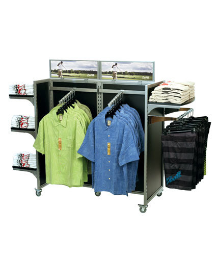 Store Fixture Gondola Clothing Display - POP Retail Display