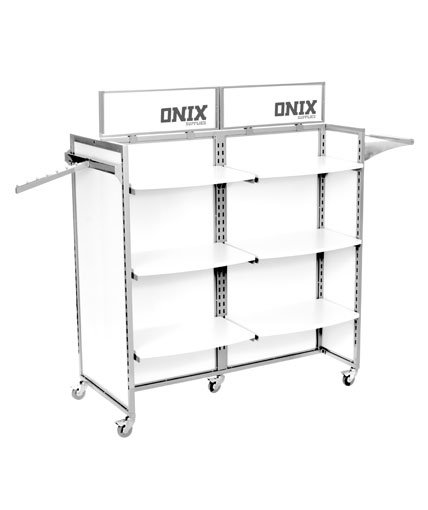 White and Silver Store Fixture POP Retail Display.