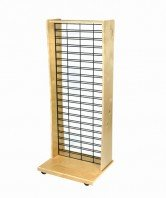 WD-1S-TGW one sided slat grid display - wood retail display