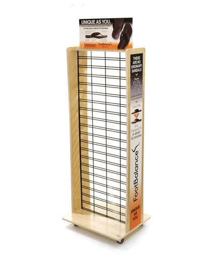 Wood Slatgrid 2-Sided Point of Purchase Display Wisign Graphics