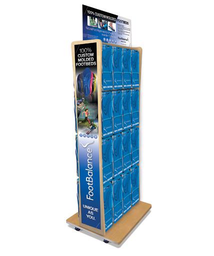 Wood Slatgrid 2-Sided Point of Purchase Display