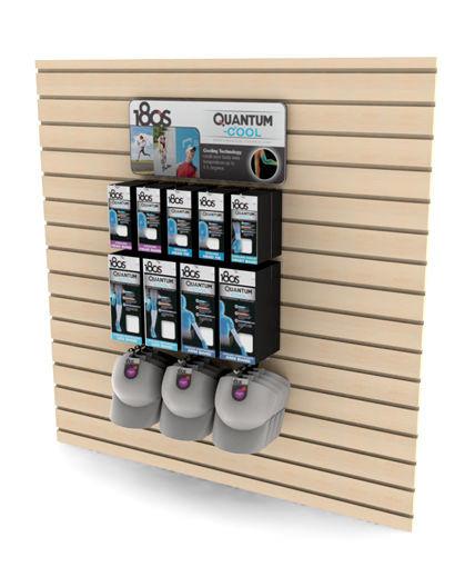 180's brand slatwall glove display