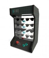 9 Five sunglasses counter top display case