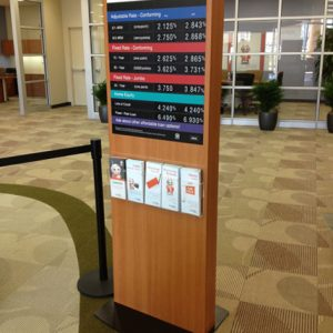 Logix Banking Point Of Purchase Floor Display