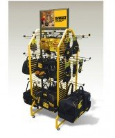 Dewalt tool belt and glove display fixture for home depot render