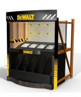 Dewalt endcap big box store Display