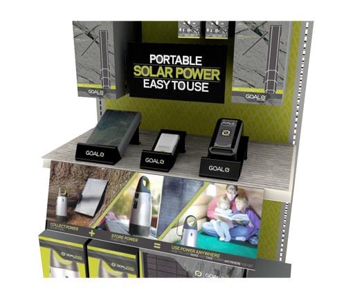 Targe goal zero endcap retail display glorifier