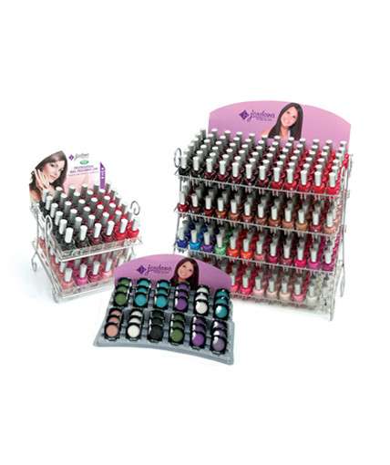 Jordana nail polish and makeup displays retail point of purchase