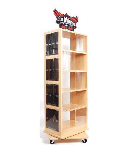 Kerusso Point Of Purchase Custom Retail Display Natural Wood