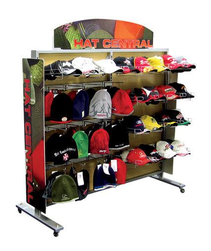 Kmart hat retail gondola display