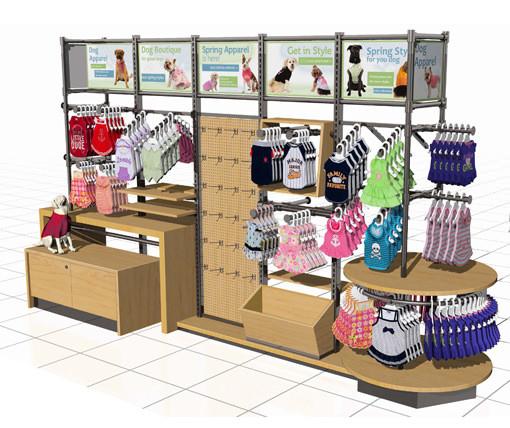 Petco retail wall display.