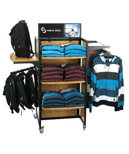 Bamboo apparel pop display