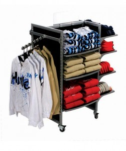 store fixture line point of purchase display with shelves