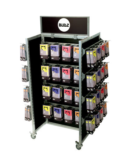 Slatwall H-rack mobile retail display