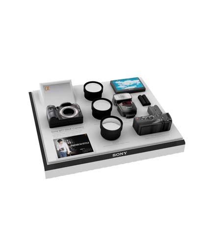 Sony SLR camera display case