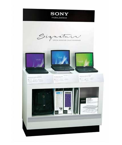 Sony Point Of Purchase Custom Retail Display