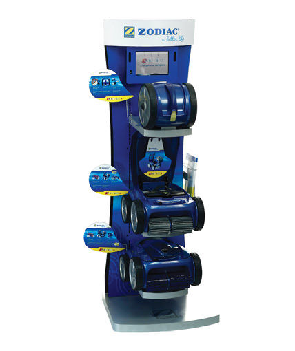 Zodiac pool systems pool cleaners point of sale display
