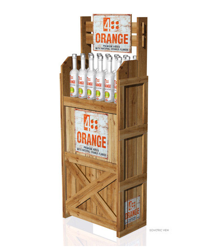 4 Orange Point Of Purchase Custom Floor Display