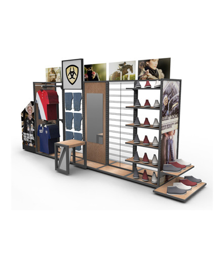 Ariat island Point Of Purchase Custom Retail Display