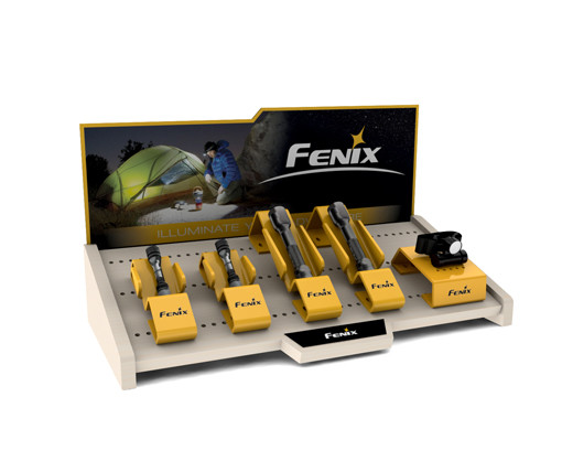 Table top Fenix flashlight retail display