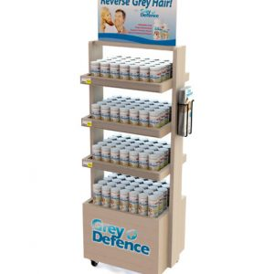 Grey Defence Point Of Purchase Retail Floor Display