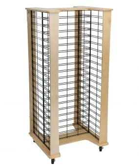 Slat Grid Panel Wood Display