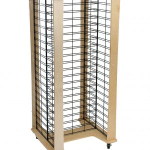 Slat Grid Panel Wood Display