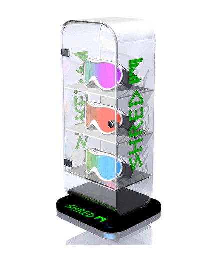 SHRED EYEWEAR Point Of Purchase Custom Retail Display