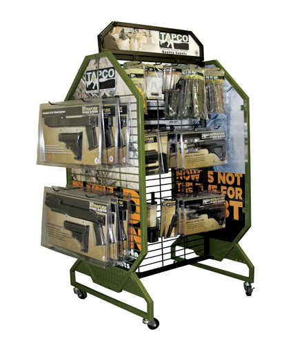 TAPCO mobile Point Of Purchase retail store fixture