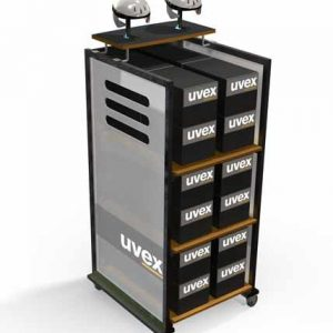 Uvex Point Of Purchase Custom Floor Display