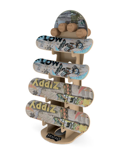 Voodo balancing board point of purchase retail display