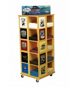 Wood T-Shirt Cubbie Retail Display