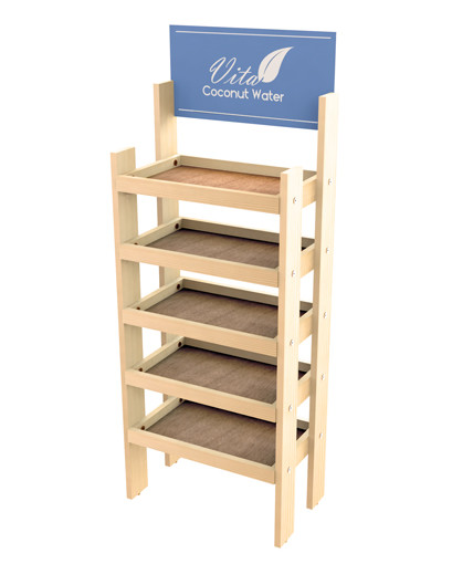 Pine Wood Display - Point of Purchase Retail Display