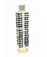 72 count wood sunglass spinning retail display