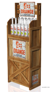4 Orange Vodka POP Display
