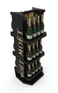 This is a tower display from Moet