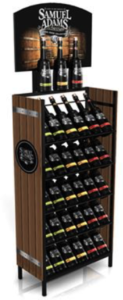 Sam Adams built this POP display to showcase their new product Infinium