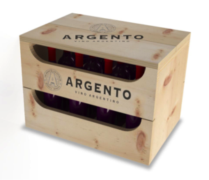 This is an example of the type of display box used by Argento Wine