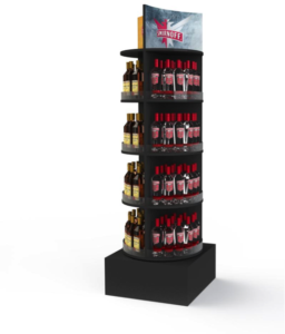 This is an example of a tower POP display from Smirnoff